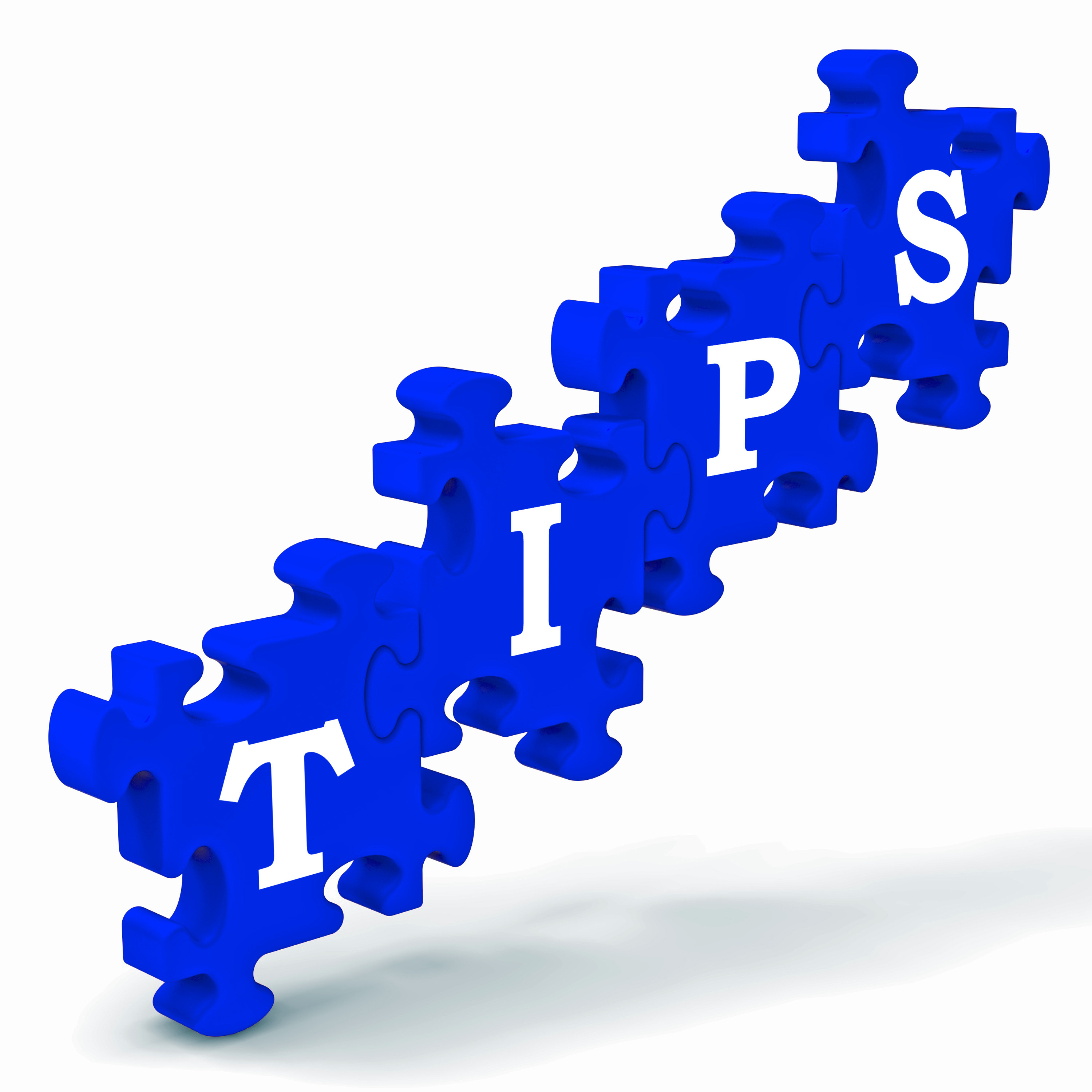 Tips Puzzle Showing Tricks, Hints And Clues