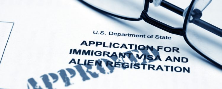 Immigrant visa form